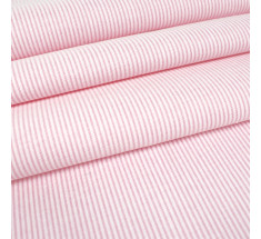 Chambray Fine Stripe - Baby Pink