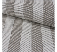 Natural Twill Weave Stripe - Flax - Linen