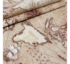 World Map Atlas Antique  Navigate - Brown
