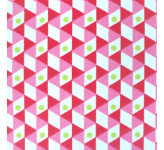 Lipstick Graphic Origami - Pink Red Lime