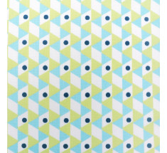 Citrus Graphic Origami - Blue  Lime Navy