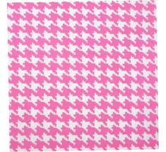 Hot Pink - Mono Houndstooth