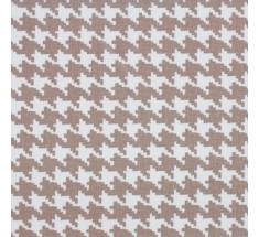 Pale Taupe - Mono Houndstooth