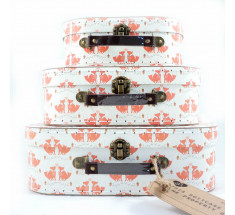 Storage Suitcase - Sass & Belle - Foxes -  Set of 3