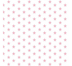 Cotton Classics - Pale Pink - Stars - Small Pale Pink Star on White LAST METRE