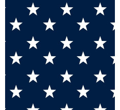 Cotton Classics - Navy - Stars - Large White Star on Navy
