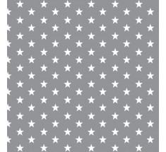 Cotton Classics - Grey - Stars - Small White Star on Grey