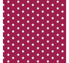 Cotton Classics - Berry - Stars - Small White Star on Berry LAST METRE