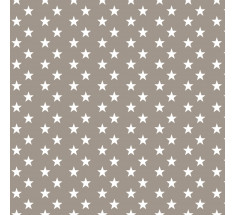 Cotton Classics - Beige - Stars - Small White Star on Beige
