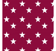 Cotton Classics - Berry - Stars - Large White Star on Berry