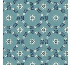 Lewis and Irene - Home Sweet Home - Daisy Chains on Jade Blue / Green