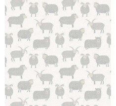 Lewis and Irene - Country Life - Woolly Sheep on Ivory