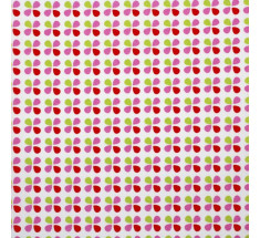 Children's Collection - Petit Petal  Pink Green & Red on White