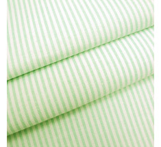Candy 3mm Woven Chambray Stripe - Lime