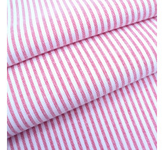 Candy 3mm Woven Chambray Stripe - Red