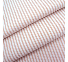 Candy 3mm Woven Chambray Stripe - Beige