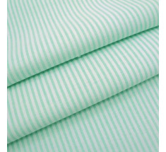 Candy 3mm Woven Chambray Stripe - Peppermint Green