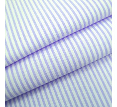 Candy 3mm Woven Chambray Stripe - Lilac