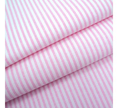 Candy 3mm Woven Chambray Stripe - Pale Pink