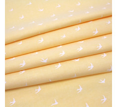 Chambray - White Swallows on Yellow