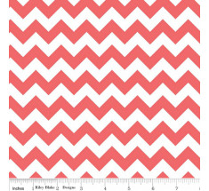 Small Chevron by Riley Blake - Rouge