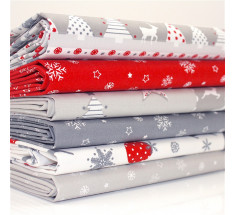 FQ Bundle - Nordic Noel Red White Grey Christmas x 6