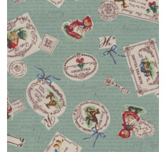 Little Red Riding Hood Poplin - Mint