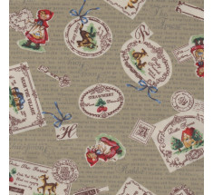 Little Red Riding Hood Poplin - Beige