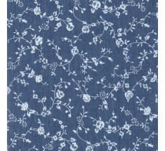 Printed Floral Denim - Trailing Festival Chic LAST METRE