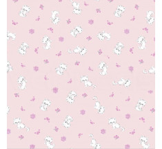 Cute Cats Cotton Fabric - Pink