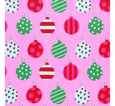 Michael Miller - Hang The Ornaments - Pink
