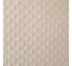 Dimple Fleece - Dot - Pale Beige - Oeko-tex