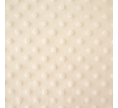 Dimple Fleece - Dot - Cream - Oeko-tex
