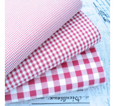 Kent 2 Classic Gingham Fabric Red