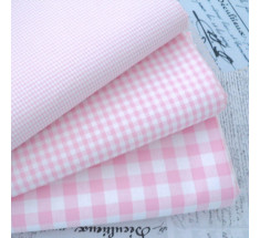Kent 2 Classic Gingham Fabric Baby Pink