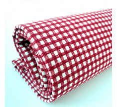 Linen Look Cotton - 2mm Gingham - Red