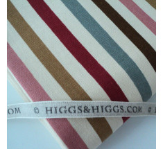 Linen Look Cotton - Oxford Stripe - Red / Pink / Grey