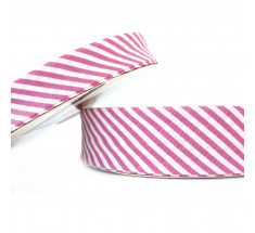 Stripe Bias Binding - 30mm -  Cerise