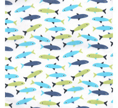 Seaside / Fishes - Woppers - Big Fish - Blue White