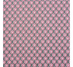 Mink and Pink Collection - Graphic Twirl - Grey & Pink