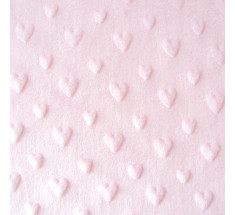 Dimple Fleece - Heart - Pink - Oeko-tex