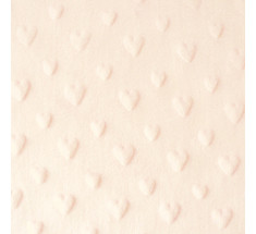 Dimple Fleece - Heart - Cream - Oeko-tex