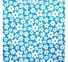 Lulu Mod Little Floral Poly Cotton - Turquoise