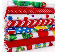 FQ Bundle - The Very Hungry Caterpillar - Red / Multi x 8