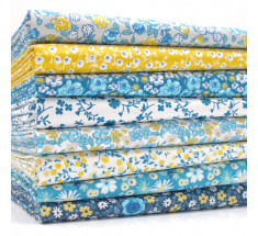 FQ Bundle - Sweetheart Florals - Blue Yellow x 8