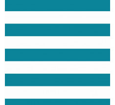 Jersey Stripe - with Elastane - Turquoise