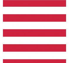 Jersey Stripe - with Elastane - Red
