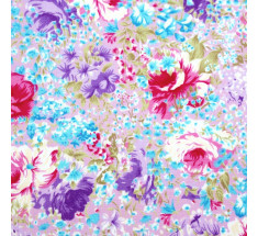 Lavender Field Floral  - Lilac Pink