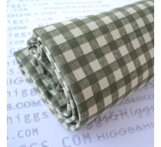 Linen Look Cotton - 6mm Gingham - Olive