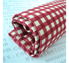 Linen Look Cotton - 6mm Gingham - Red